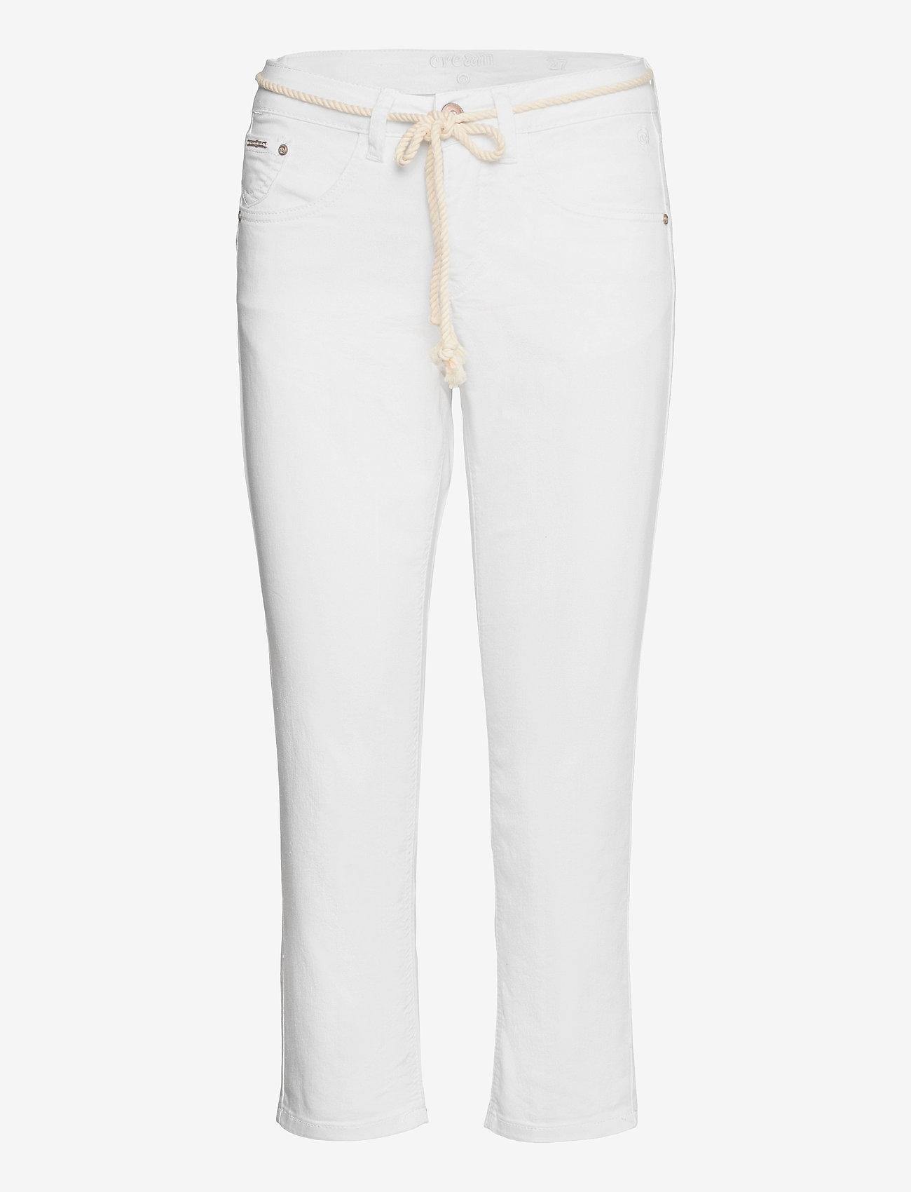 Cream - CRVava Pant 3/4 - Coco Fit - straight regular - snow white - 0