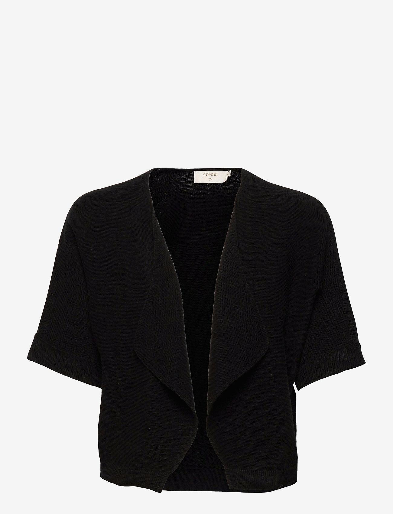 Cream - CRSillar Knit Bolero - swetry rozpinane - pitch black - 0