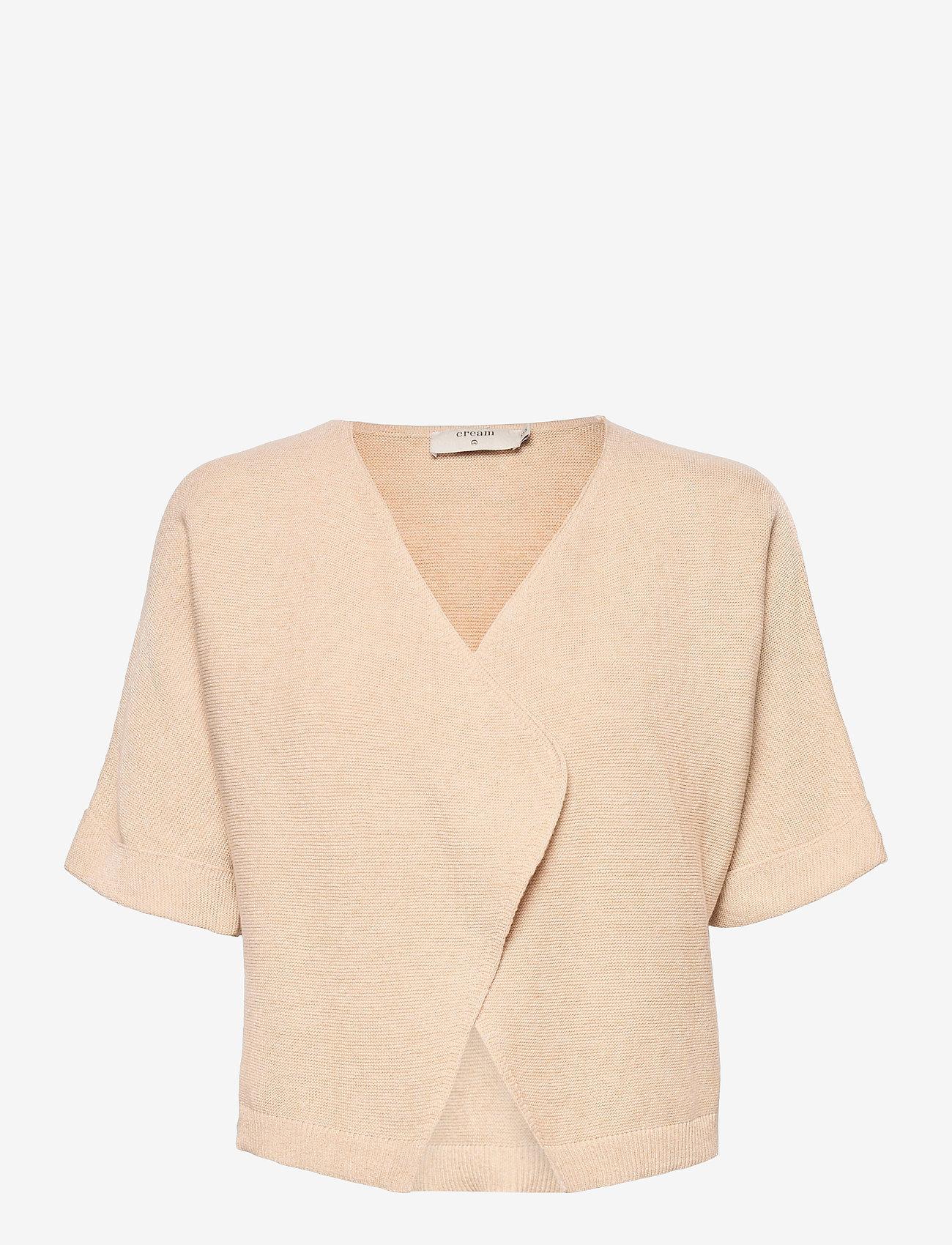 Cream - CRSillar Knit Bolero - swetry rozpinane - sesame melange - 0