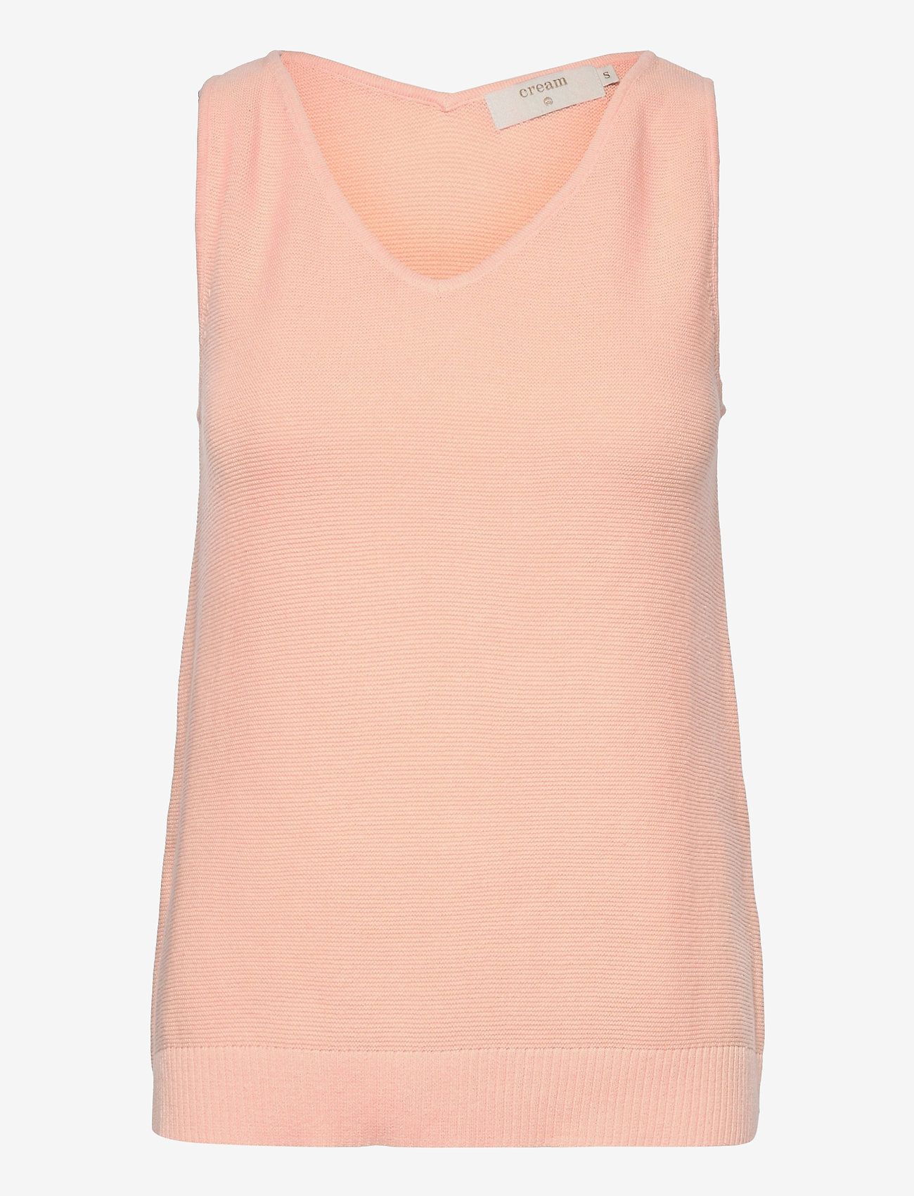 Cream - CRSillar Knit Top - knitted vests - pink sand - 1