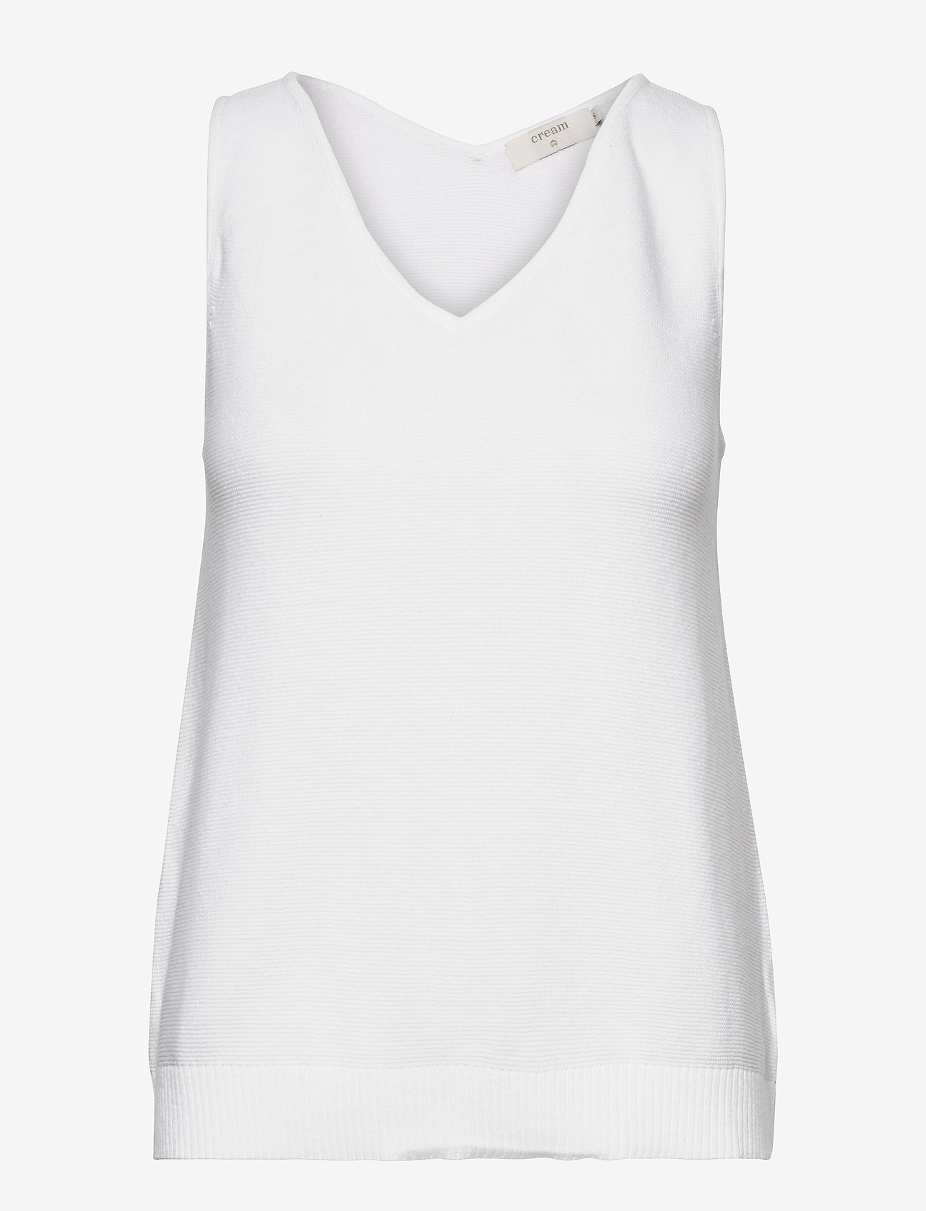 Cream - CRSillar Knit Top - knitted vests - snow white - 0