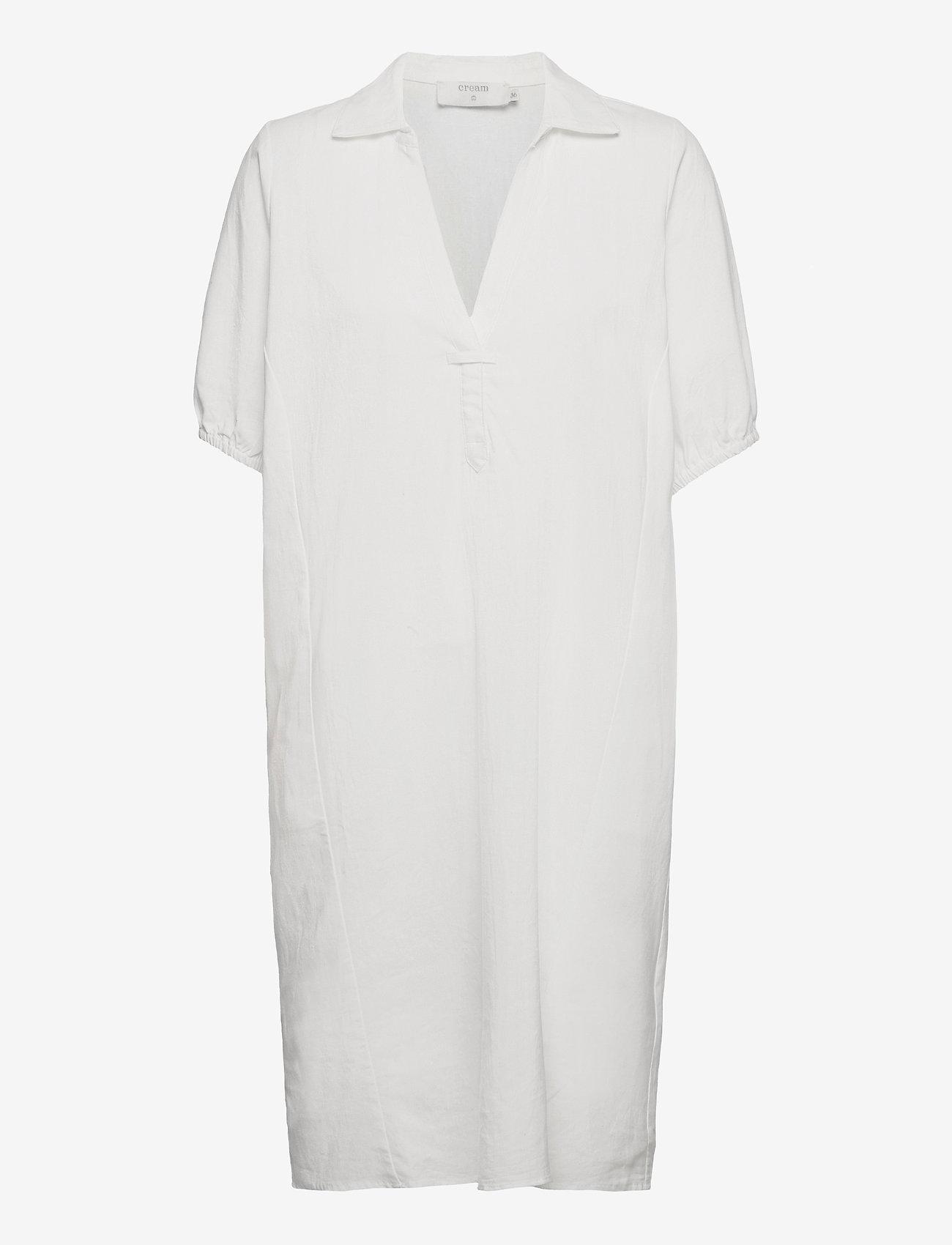 Cream - CRVenta Dress - sommerkjoler - snow white - 0