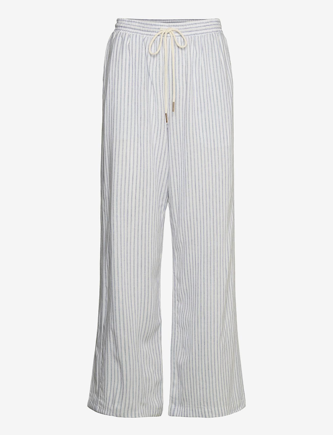 Cream - CRVenta Pant - bukser med brede ben - blue stripe - 1