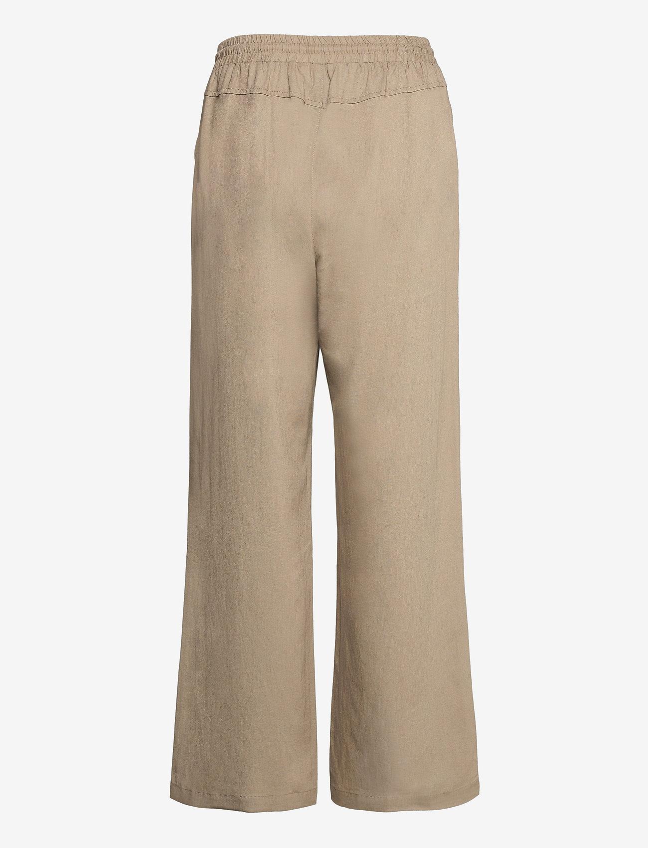 Cream - CRVenta Pant - bukser med brede ben - timber wolf - 1
