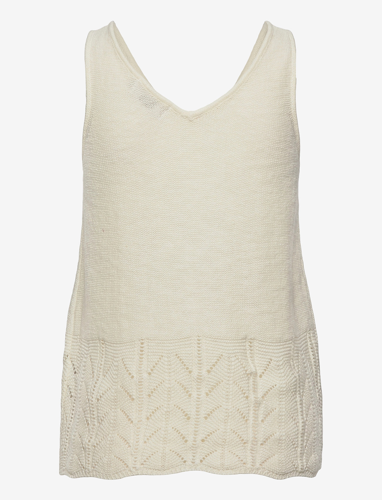 Cream - CRPina Knit Top - strikkede toppe - snow white - 1