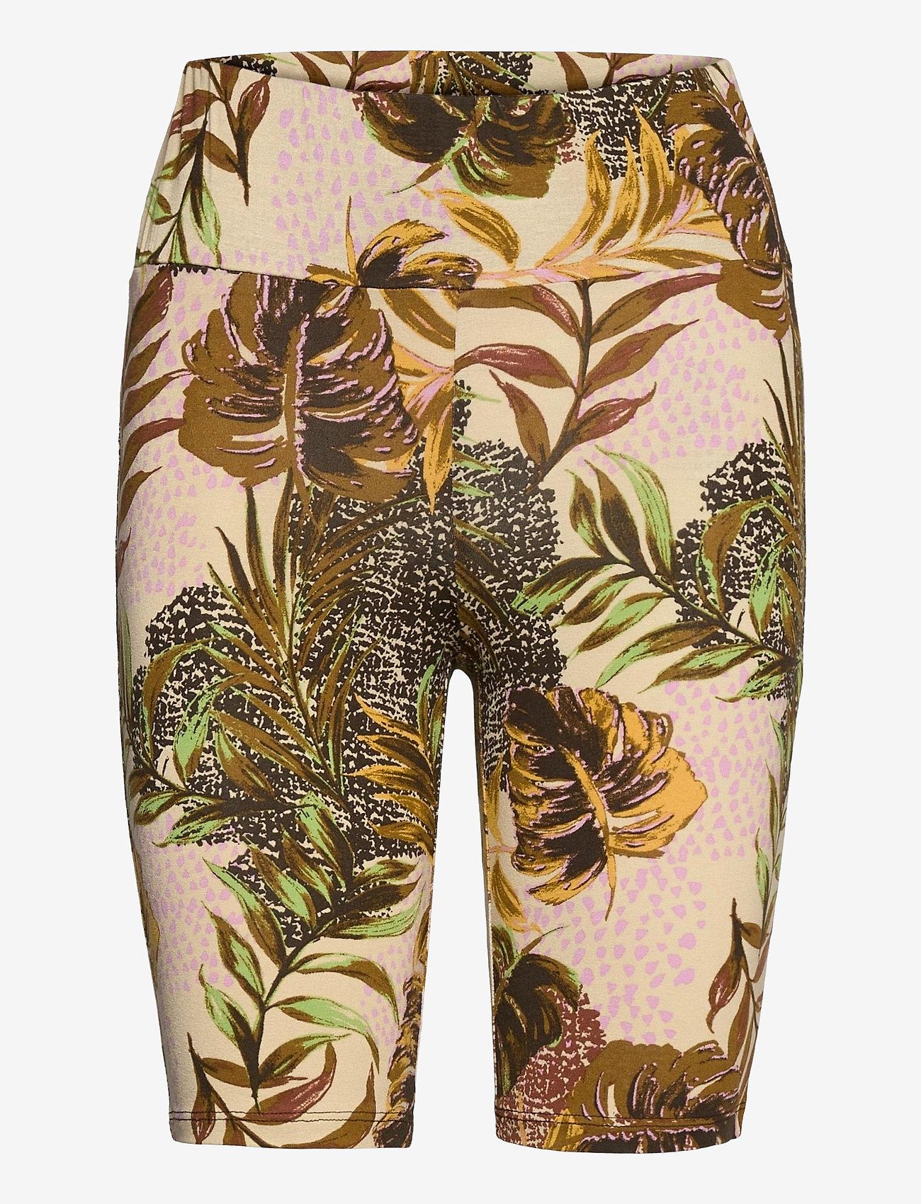 Cream - CRCindy Biker Shorts - cykelshorts - dull gold jungle - 0