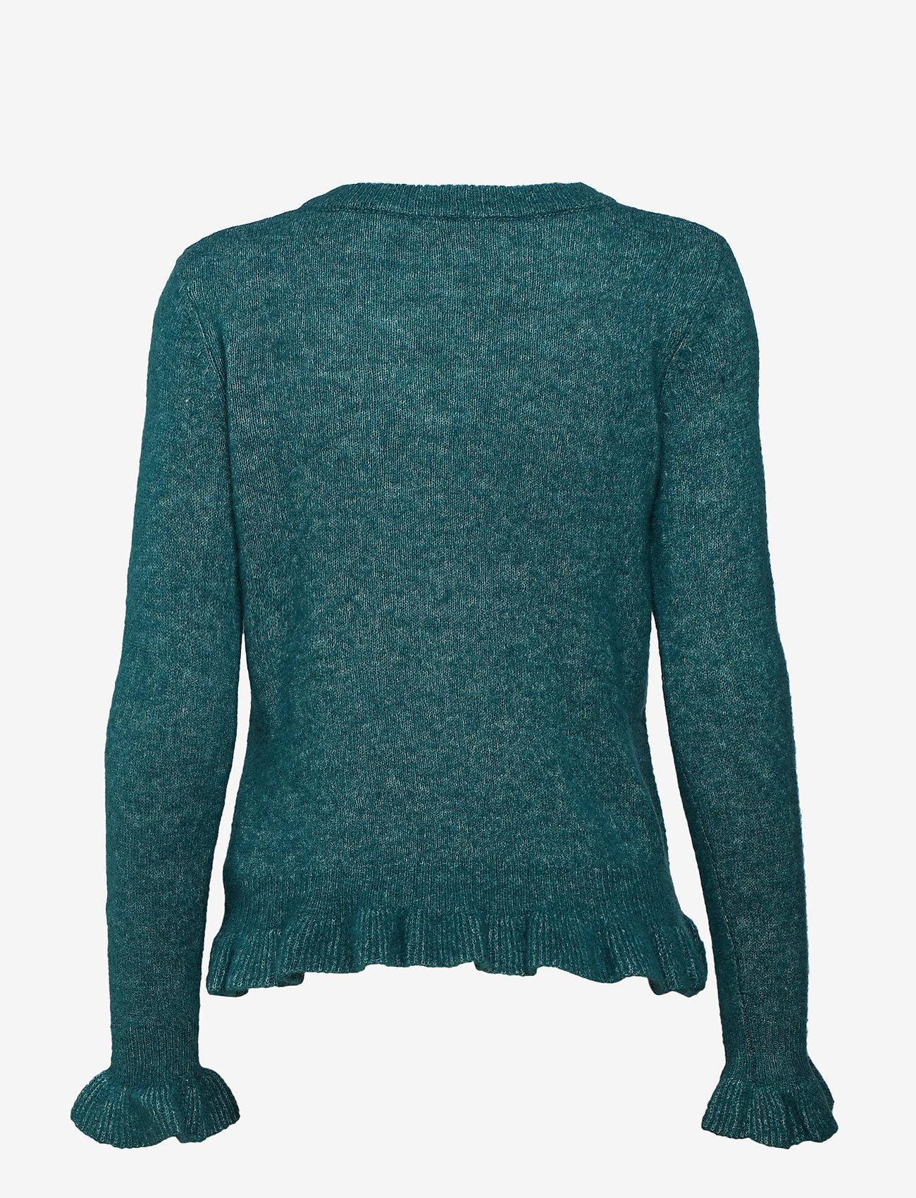 Cream Kaitlyn Flounce Pullover - Knitwear