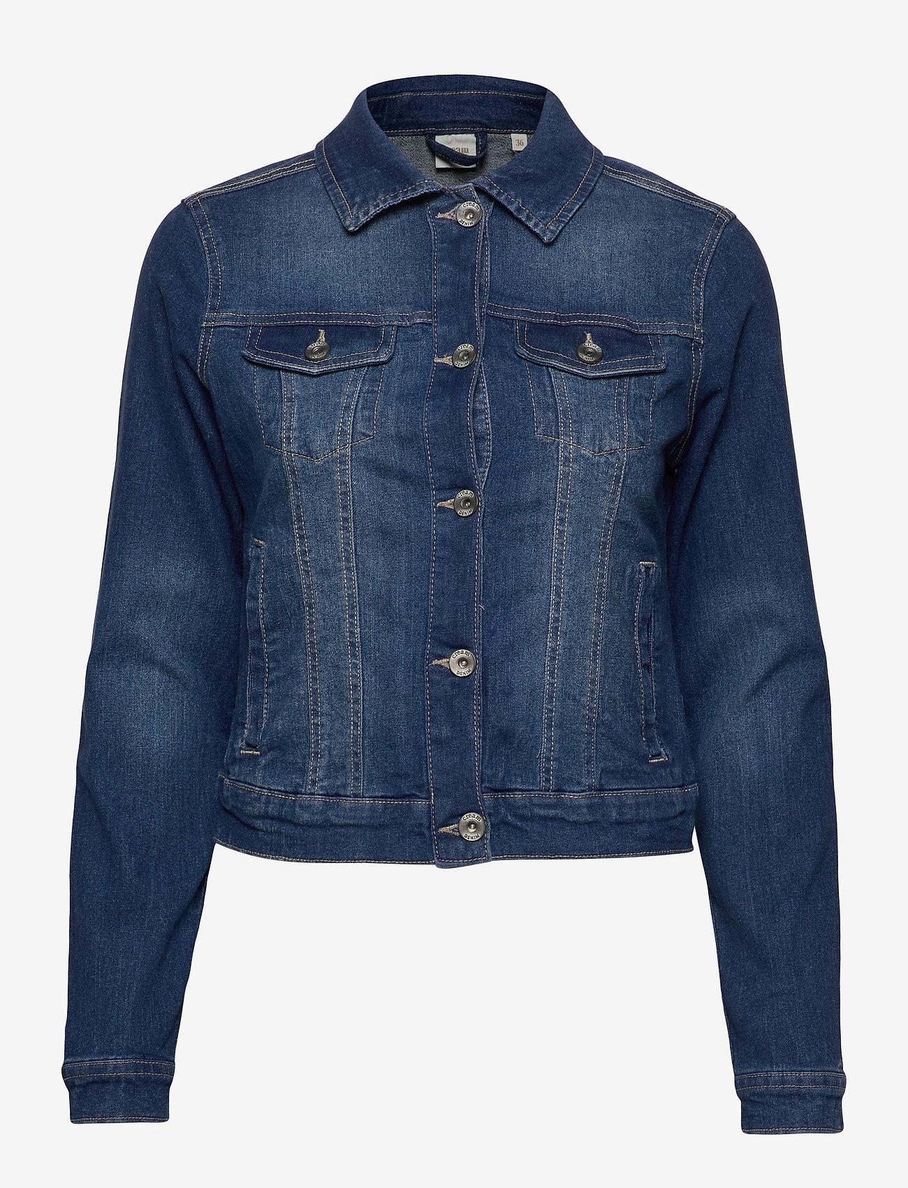 Cream - Lisa Denim Jacket - farkkutakit - rich blue denim