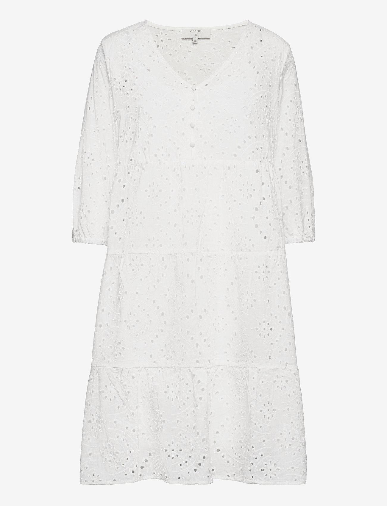 Cream - RistaCR Dress - sommerkjoler - snow white - 1
