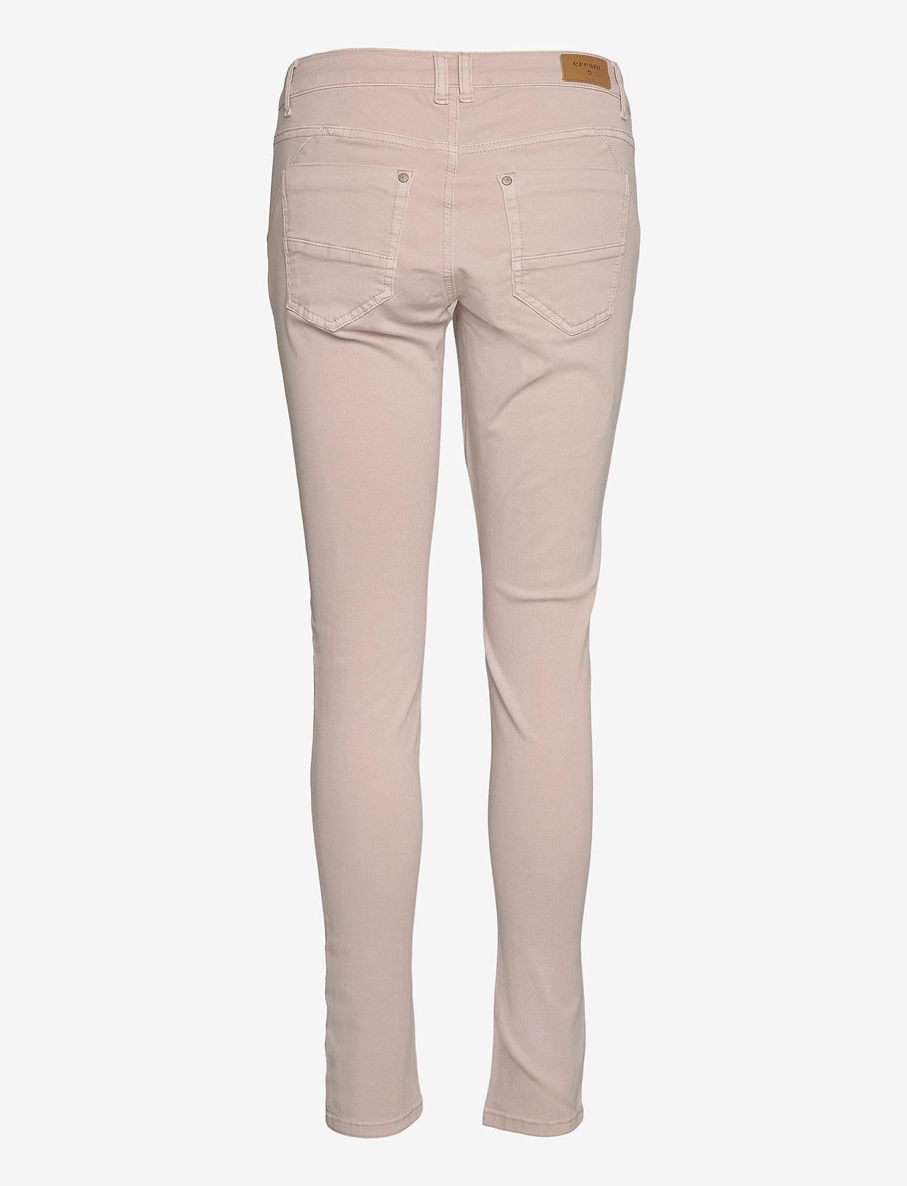 Cream - Bailey twill Pants - džinsa bikses ar šaurām starām - winter rose - 1