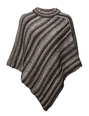 Lynette poncho - LIGHT GREY MELANGE