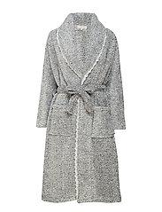 Bella housecoat - LIGHT GREY MELANGE