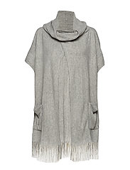 6ad7ef7f8b47 Wiena Poncho - LIGHT GREY MELANGE