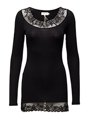 Florence LS Top - PITCH BLACK
