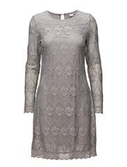 Lianna Lace Dress - CLEAR GREY