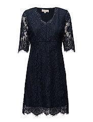 Adriana Lace Dress - ROYAL NAVY BLUE