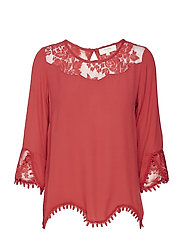 Kalanie Blouse - AMERICAN BEAUTY RED