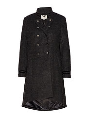 Annabell Coat - BLACK MELANGE
