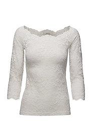 Lilliana 3/4 sleeve blouse - CHALK