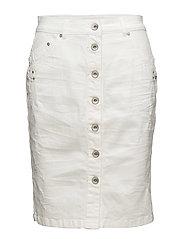 Fry Denim Skirt - OPTICAL WHITE