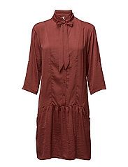 Comma Dress - BURNT RUSSET