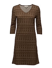 Mira Dress - KHAKI PALM