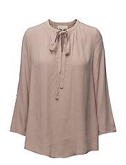 Vera 3/4 sleeve blouse - DEEP POWDER