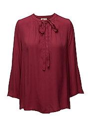 Vera 3/4 sleeve blouse - TIBETAN RED