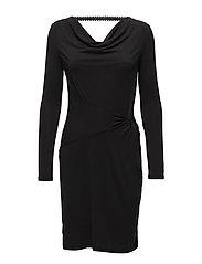 Silje LS Dress - PITCH BLACK