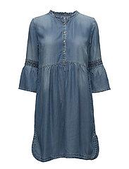 Lussa denim dress - LIGHT BLUE DENIM