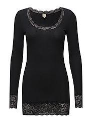 Vanessa L/S T-shirt - PITCH BLACK