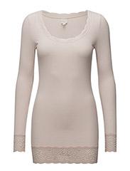 Vanessa L/S T-shirt - SPRING POWDER MELANGE