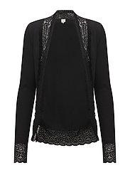 Vanessa jersey cardigan - PITCH BLACK