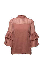 Vera Blouse - WITHERED ROSE