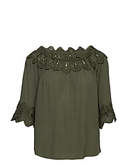 Bea Lace Blouse - GREEN LEAF
