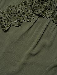 Cream - Bea Lace Blouse - bluzki dlugim rekawem - green leaf - 2