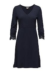 Rosemary solid dress - ROYAL NAVY BLUE