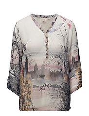 Addie blouse 3/4 sleeve - CHALK