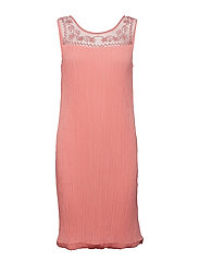 Angolie Dress - BRIGHT CORAL