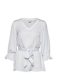 Angie Blouse 3/4 sleeve - CHALK
