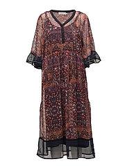 Lavy Dress - SCARLET ORANGE