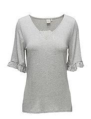 Lilja T-shirt - LIGHT GREY MELANGE