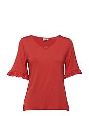 Lilja T-shirt - SCARLET ORANGE