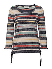 Fiona stripe pullover - ROYAL NAVY BLUE