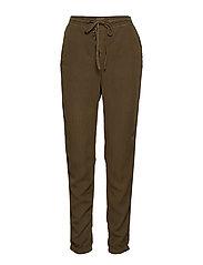 Paisley Pants - Plain - CROCODILE GREEN