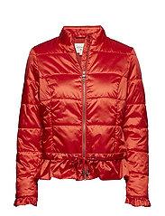 Crystal short Jacket - SCARLET ORANGE