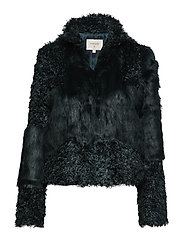 Cassie Fur Jacket - FALL GREEN