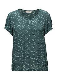Allison Short sleeve blouse - HUNTER GREEN