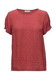 Allison Short sleeve blouse - SCARLET ORANGE