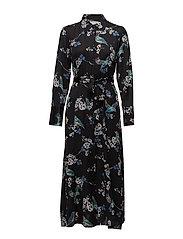 Margot Shirt Dress - JET BLACK